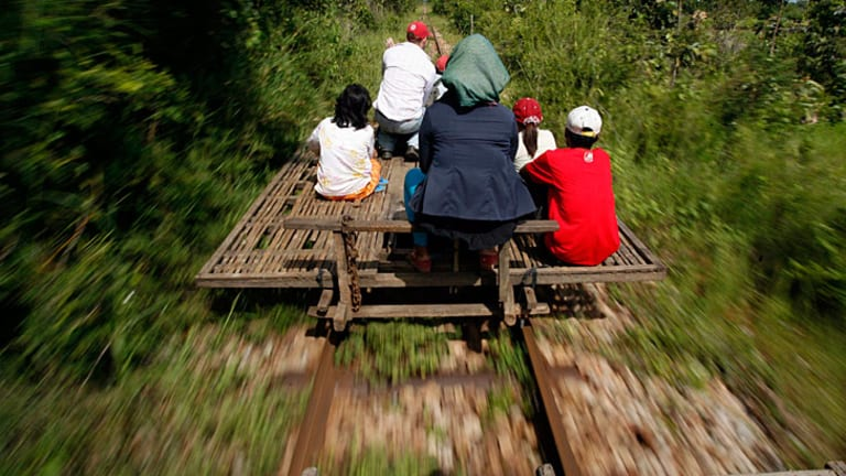 Cambodia has reopened a stretch of railway destroyed during the country's war and officials described it as a step towards boosting regional trade through rail links with neighbours.