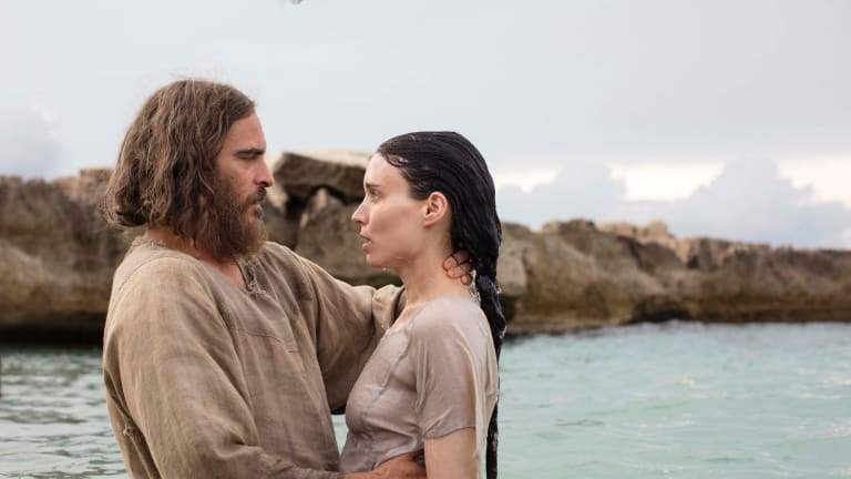 Joaquin Phoenix plays Jesus as half man half psycho, while Rooney Mara's adoring Mary comes over as wet.