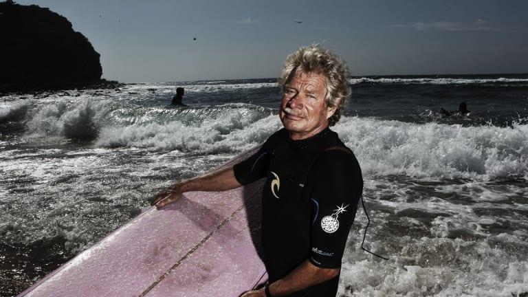 Legend: Midget Farrelly at Avalon beach in 2012.