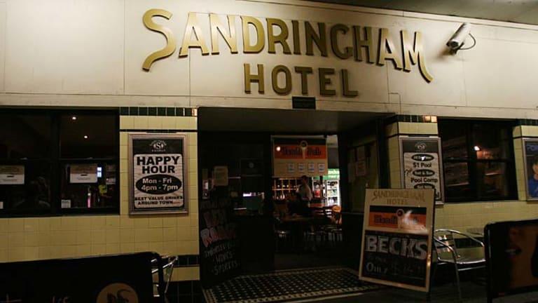 Legendary live music venue ... the Sandringham Hotel faces a battle to survive.