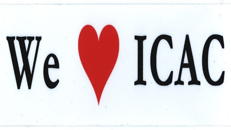 Sticker support: Sighted around Balmoral Beach after ICAC's findings.