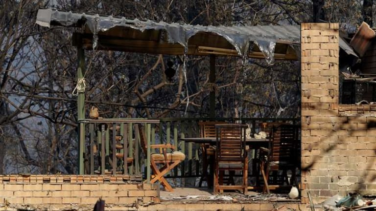 Support needed: The aftermath of a disaster, such as losing your home to a bushfire, can take its toll on mental health.