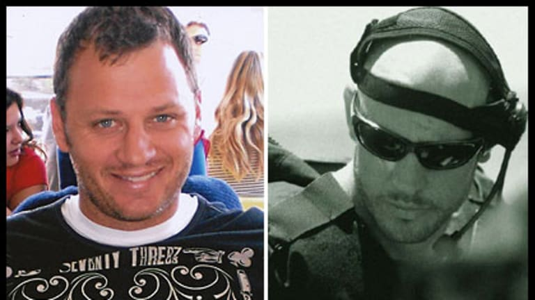 Shark attack victims Glenn Orgias and Paul de Gelder.