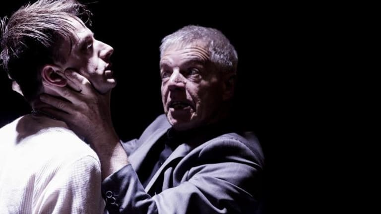 Tom Conroy and Colin Friels in <i>Mortido</i> at Belvoir.