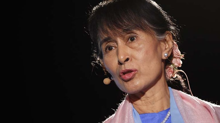"""I am looking forward to coming to Australia"": Myanmar opposition leader Aung San Suu Kyi."