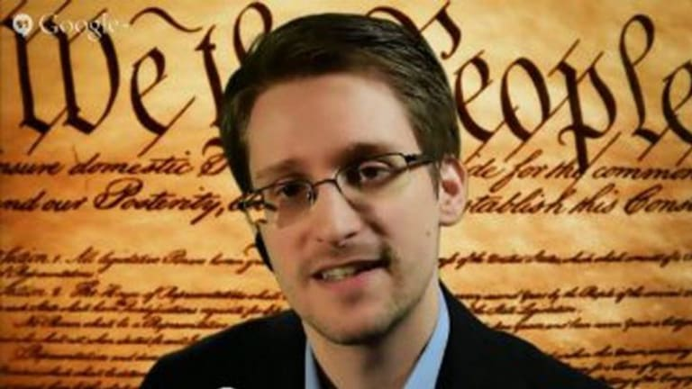 """""""We've actually had a tremendous intelligence failure because ... we're monitoring everybody's communications instead of suspects' communications"""": Edward Snowden."""