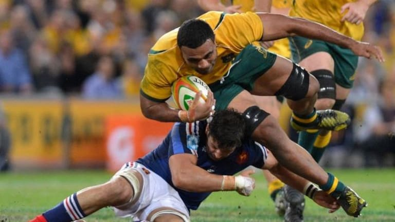 Wycliff Palu of the Wallabies is in doubt.