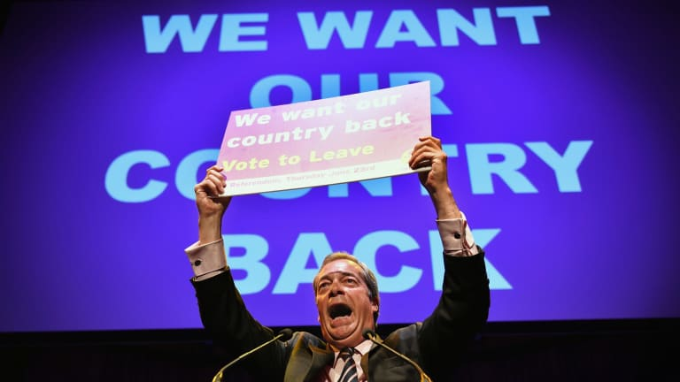 Nigel Farage, the leader of UKIP, tapped into the angry voter during the Brexit campaign.