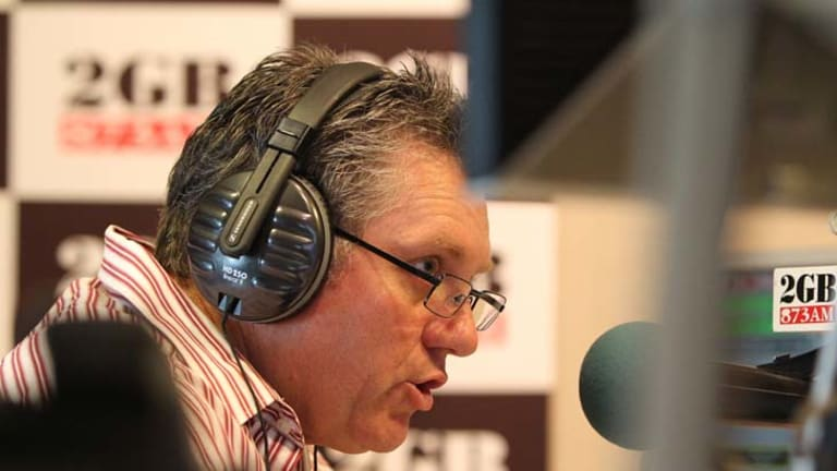 Ray Hadley ... criticised NBN Co before a live ad.