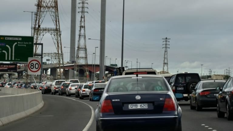 Extra lanes are being added to the Bolte Bridge as part of the CityLink/Tulla widening project.