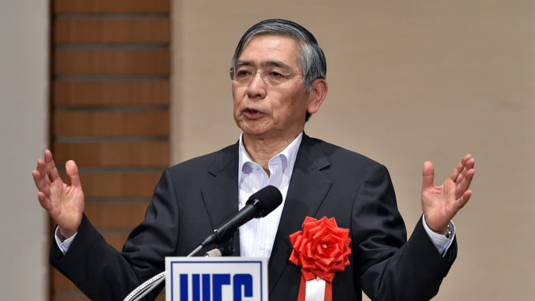 Bank of Japan governor Haruhiko Kuroda has spooked investors into selling the US dollar and Japanese stocks.