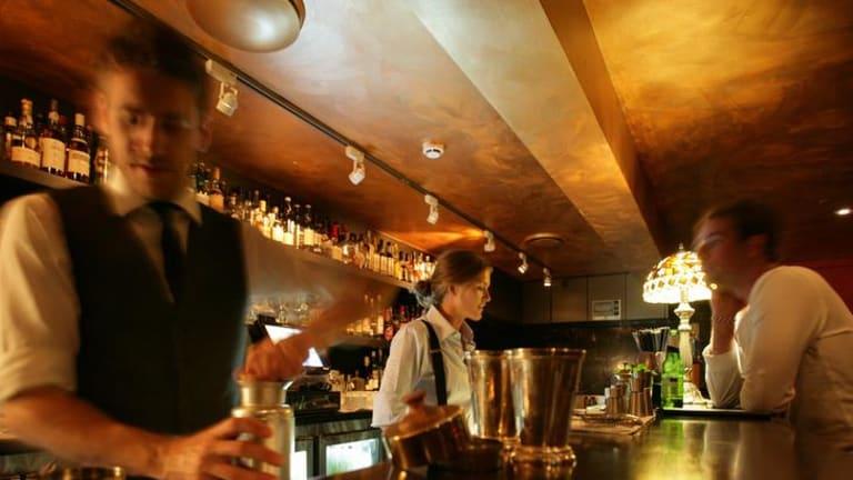 Eau de Vie bar at the Kirketon Hotel.