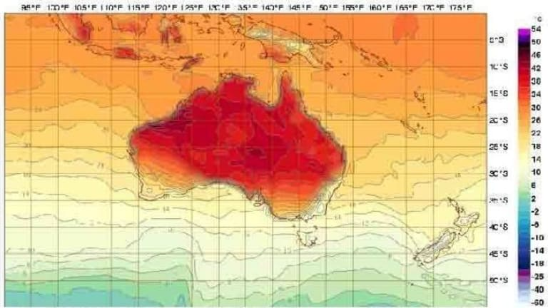 Broadscale warmth expected over Australia over the coming weekend, including for Sunday.