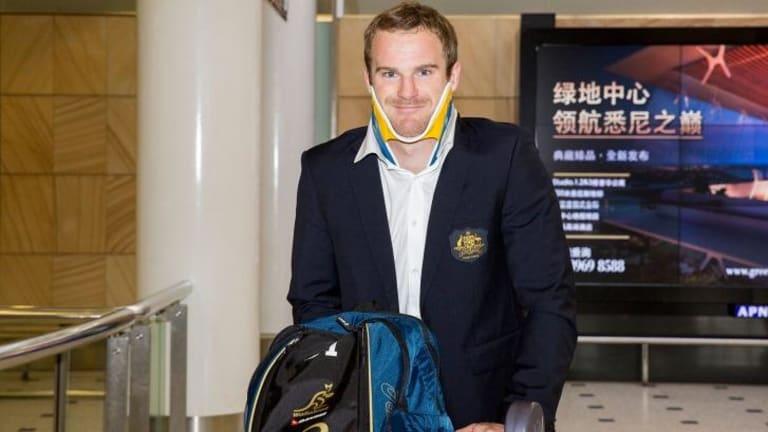 Walking wounded: Pat McCabe arrives back in Australia on Sunday.