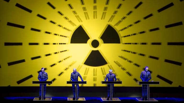 Enduring: Kraftwerk perform at the Sydney Opera House.