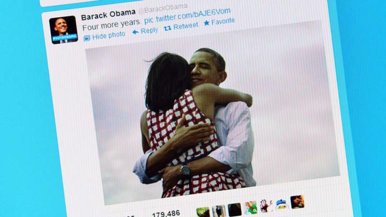 Twitter record ... Barack Obama's photo.
