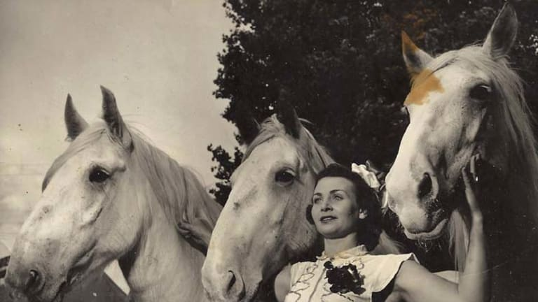 Mane attraction … Peggy St Leon was part of one of Australia's most famous circus acts and was renowned for her horse-riding abilities.