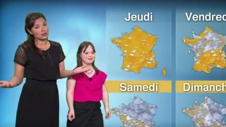 Mélanie Ségard fulfilled her dream of reading the weather report.