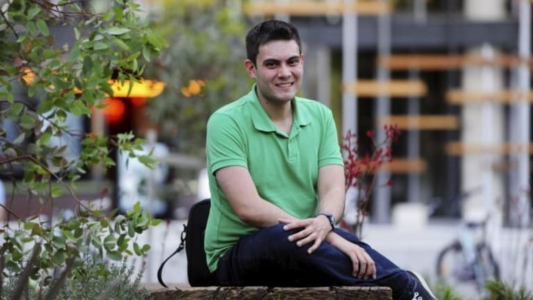 Tim Hitches, 27, of Gungahlin, a single public servant and part-time university student.