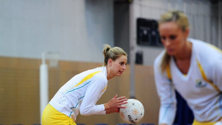 Hoodoo: Australian captain Laura Geitz trains in Canberra earlier this month ahead of the Diamonds' quest for an elusive Commonwealth Games gold medal.