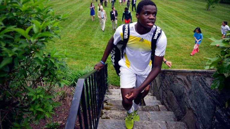 Tiafoe was a featured guest at a recent fundraising gala at the Swedish ambassador's residence in Washington DC.