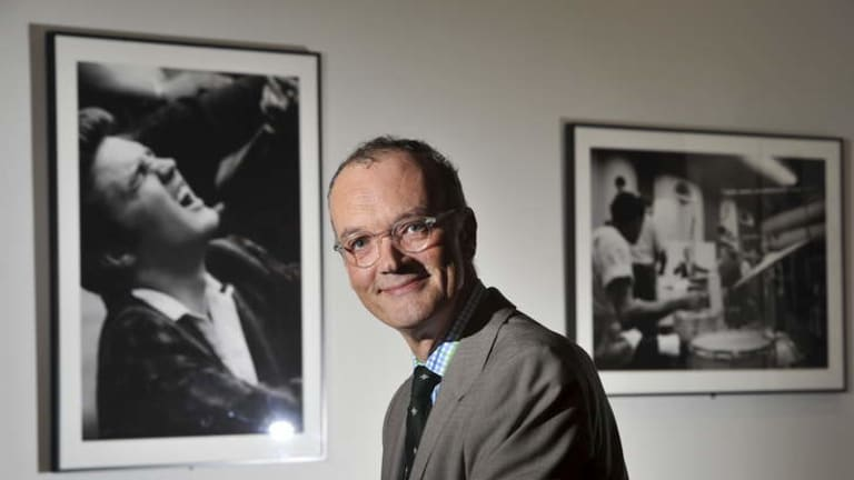 Newly appointed National Portrait Gallery director Angus Trumble at the Elvis exhibition.