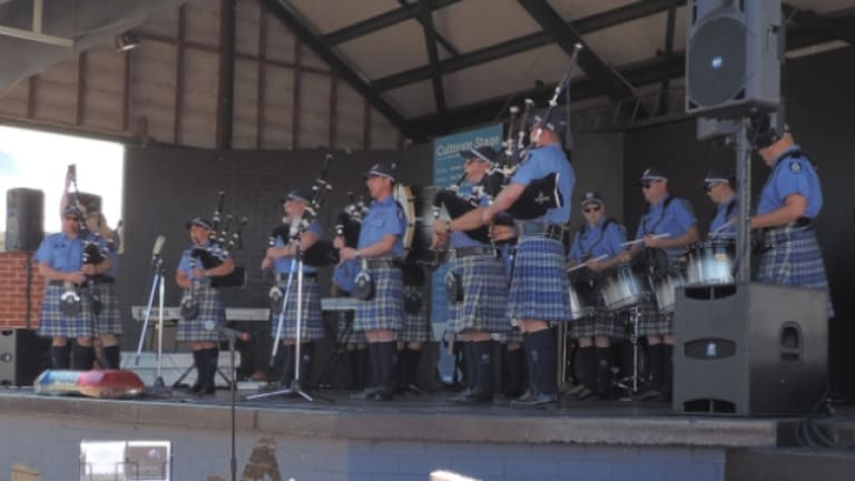 """Sergeant Stewart said the band showed """"a different side to the police uniform""""."""