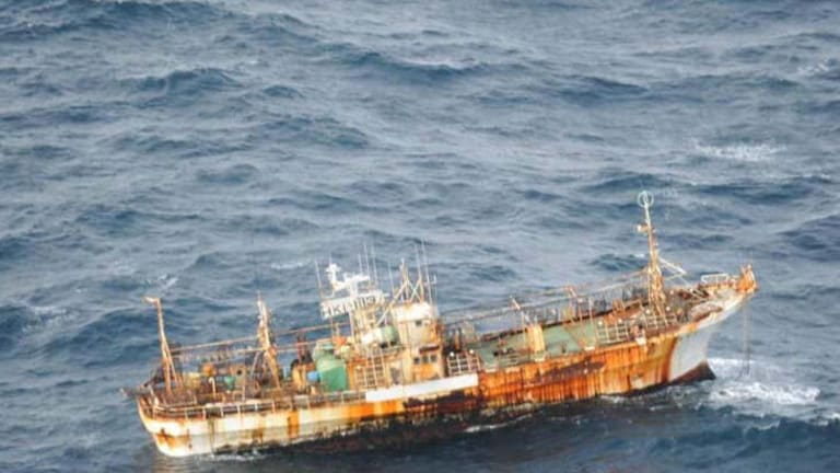 A Japanese fishing vessel was sighted drifting 150 nautical miles of the southern coast of British Columbia.
