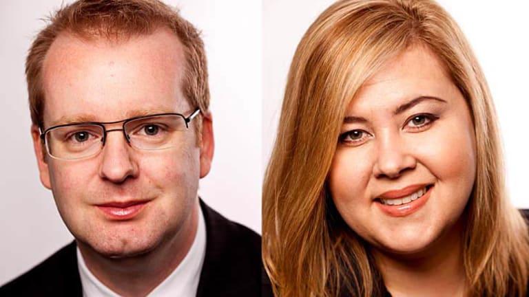 Authors Brad Howarth and Janelle Ledwidge.
