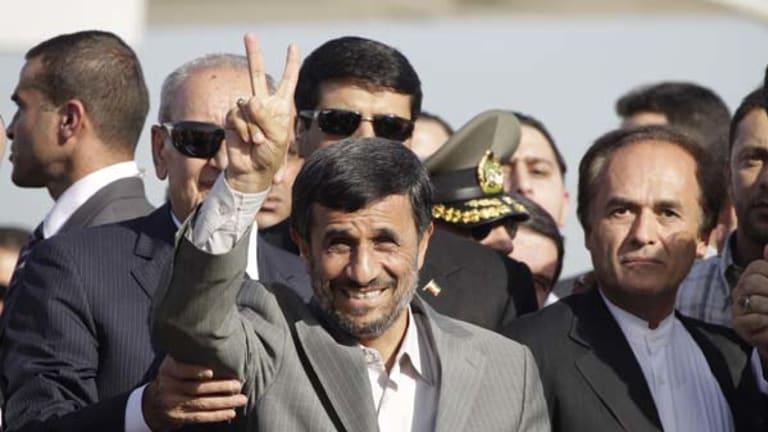 The Iranian President, Mahmoud Ahmadinejad.
