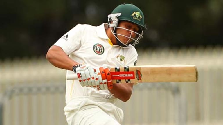 Usman Khawaja will make his Test debut in Sydney on Monday.