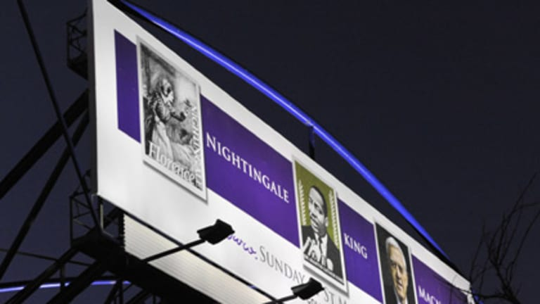 So, just who is the greatest? Francis MacNab's billboard above Monash Freeway.