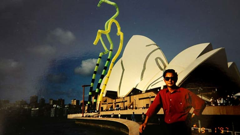 Dr Du in Sydney in th 1990s after securing citizenship.