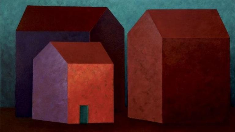 'Inside Stories I', oil on canvas, 30 x 50cm