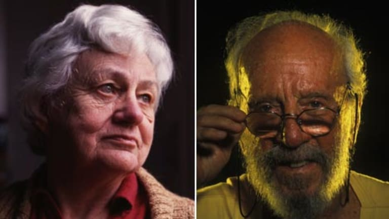 Judith Wright ...  the nation's best-loved poet, and a widow and (right) Dr Herbert ``Nugget'' Coombs...a former Reserve Bank boss.