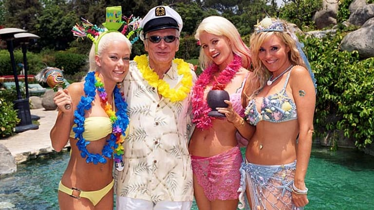Playboy founder Hugh Hefner, 86, is a hit with young women.