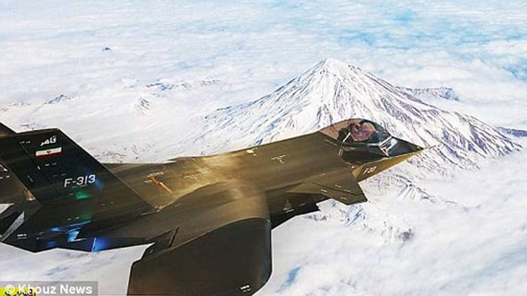 Doctored? ... the image of the jet released by an Iranian state news agency.
