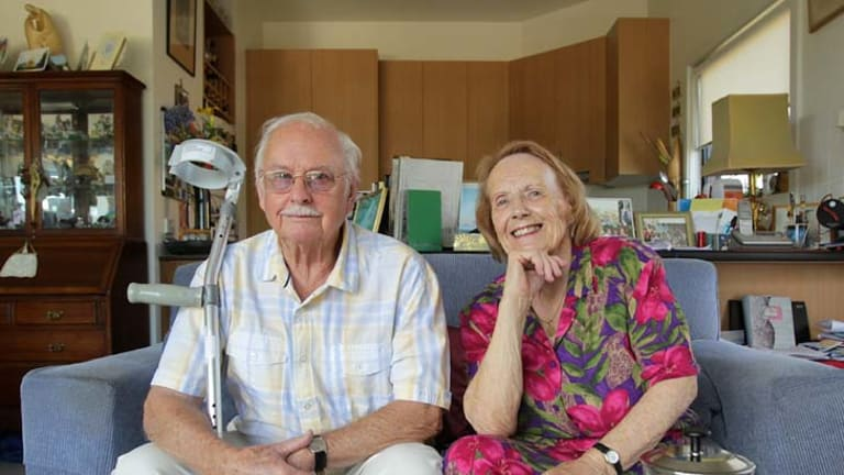 Lack of advice ... Harold and Diana, who both had hip replacements, have called for prostheses problems to be better managed.