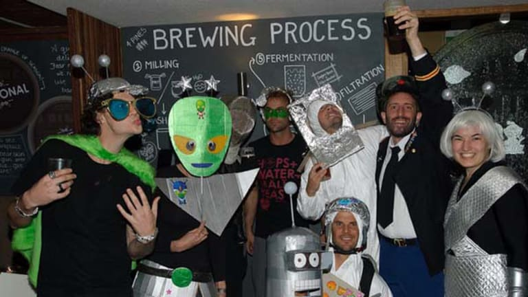 Manly's 4 Pines Brewery and Saber Astronautics Australia celebrate Yuri Gagarin becoming the first human in space on the anniversary of the event on April 12 this year.