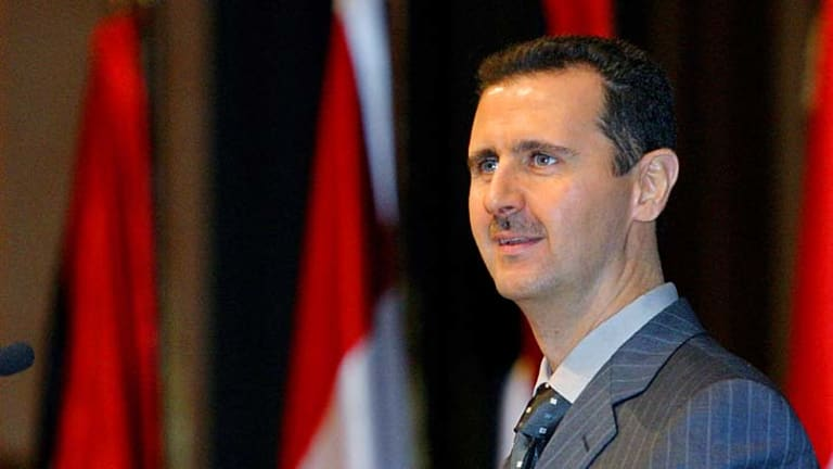 "Syrian President Bashar al-Assad has been accused of attempting to ""terrorise Syrians into submission"" amidst the recent uprising."