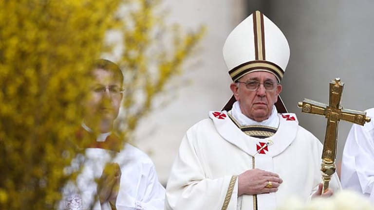 Leading the way: Pope Francis is the first Jesuit to hold office.