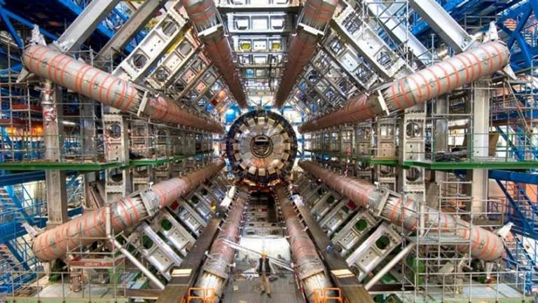 The ATLAS Detector at CERN in the documentary <i>Particle Fever</i>.