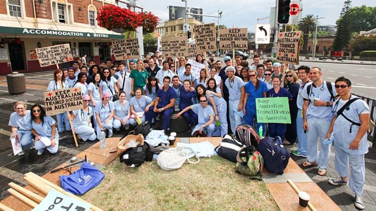 Domestic and international medical students have revolted against suggested international medical students pay for the privilege of working as interns.