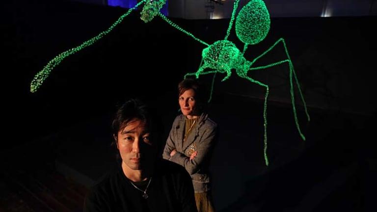 Strong nucleus ... Ken and Julia Yonetani at the 4A Centre for Contemporary Asian Art.