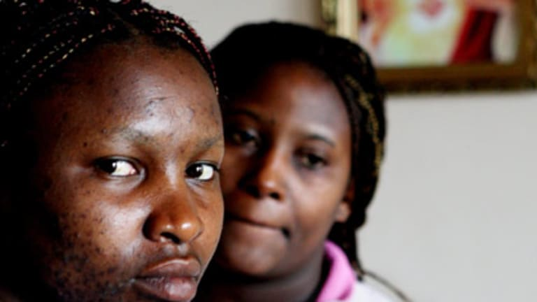 Fears ... Teresia  Muturi, left, and Grace Gichuhi  have been ordered to return to a grim fate in Kenya.