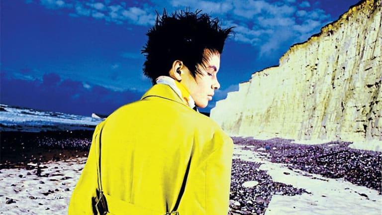 Monty Coles' hyper colours against white cliffs.