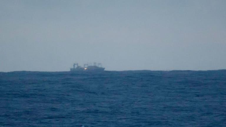 The whaling factory ship Nisshin Maru.