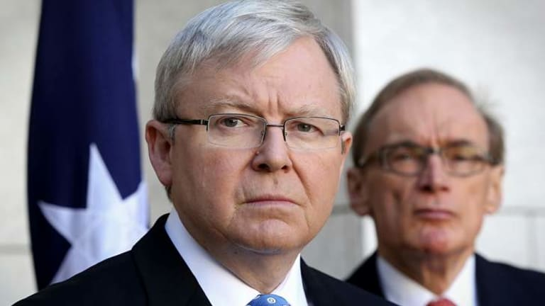 Prime Minister Kevin Rudd, with Foreign Minister Senator Bob Carr, said Australia would have an important role to play in finding a solution to violence in Syria.