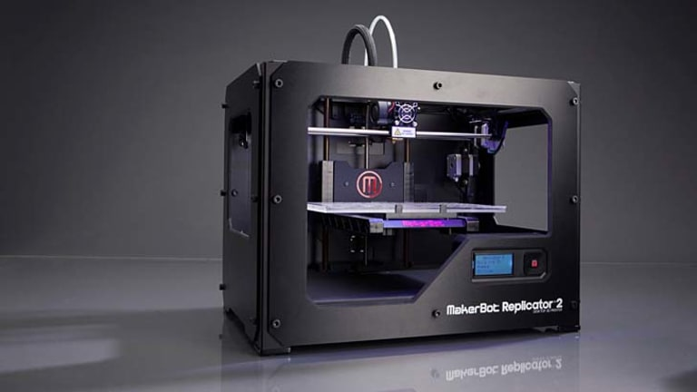 3D: The Replicator2 from MakerBot.