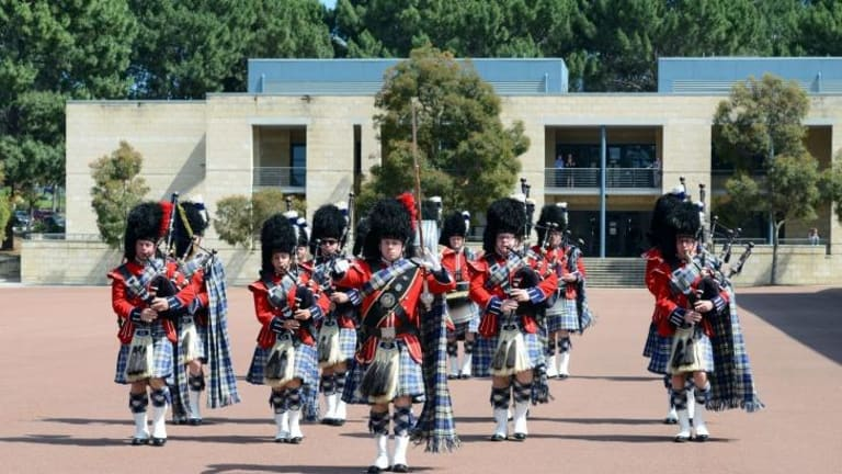 The WA Police Pipe Band are the current national champions.